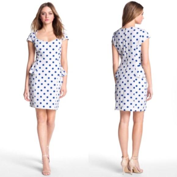 Betsey Johnson Dresses | Polka Dot Peplum Cocktail Dress | Poshmark